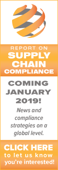 Report on Supply Chain Compliance Coming Soon