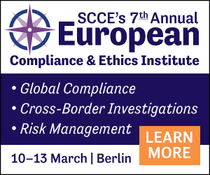 Global compliance, cross-border investigations, risk management | Join us for the European Compliance & Ethics Institute in Berlin | Learn More >