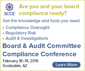 Are you and your board compliance ready? Get the knowledge and tools you need at the Board & Audit Committee Compliance Conference | Learn More >