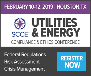 Join us for the Utilities & Energy Compliance & Ethics Conference | Federal Regulations, Risk Assessment, Crisis Management | Register Now >